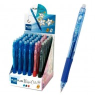 Expositor bolígrafo Plus Office Magic Click tinta gel borrable 36 unid. 3 colores surtidos