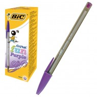 Bolígrafo Bic Fun Fashion Colour tinta base de aceite morado ref. 929055