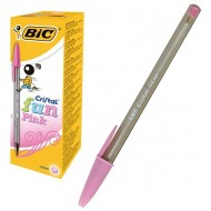 Bolígrafo Bic Fun Fashion Colour tinta base de aceite rosa ref. 929056