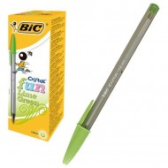 Bolígrafo Bic Fun Fashion Colour tinta base de aceite verde lima ref. 927885