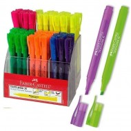 Expositor rotulador fluorescente Faber Castell Textliner 38 54 unid. 6 colores surtidos ref. 158109