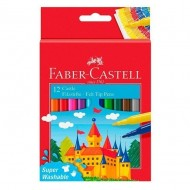 Rotulador Faber Castell tinta lavable 12 unid. colores surtidos ref. 554212