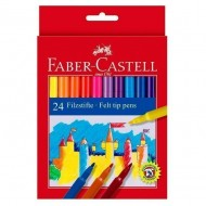 Rotulador Faber Castell tinta lavable 24 unid. colores surtidos ref. 554224
