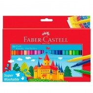 Rotulador Faber Castell tinta lavable 50 unid. colores surtidos ref. 554250