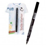 Rotulador permanente Plus Office Textile Marker negro ref. 080870
