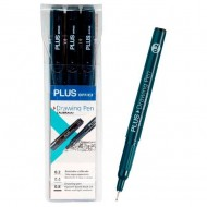 Rotulador calibrado Plus Office Drawing Pen 3 unid. negro ref. 600392