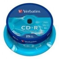 CD-R Verbatim spindle 25 uds 700MB ref. 43432