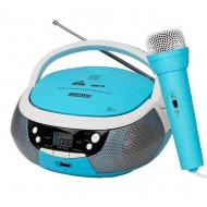 Reproductor radio/CD/MP3 con micrófono Daewoo DBU-59BL