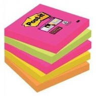 Pack de 5 blocs de notas reposicionables Post-it Super Sticky 76x76 mm ref. 654S-N