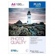 Papel fotográfico Plus Office A4 Glossy Paper Photo Quality 2880 dpi paquete 20h