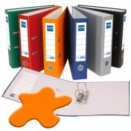 Archivador forrado polipropileno Plus Office Folio naranja ref. E-3-R