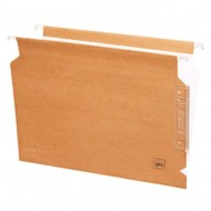 Carpeta colgante cartulina kraft Gio Folio visor lateral bicolor marrón/blanco ref. AKU-2