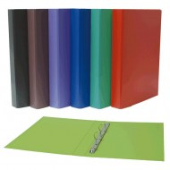Carpeta cartón forrado PP Plus Office Folio 2 anillas 25 mm. 6 colores surtidos ref. 180769