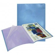 Carpeta 20 fundas Plus Office A4 azul traslúcido ref. MO-20/MTG-6020