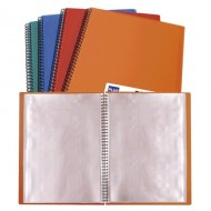Carpeta espiral 20 fundas Plus Office A4 colores surtidos opacos ref. 13461-20