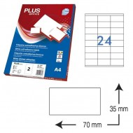 Etiquetas autoadhesivas Plus Office 70 x 35 mm. (2400 etiq./caja) ref.10675/7035