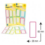 Etiquetas de colores para libros Plus Office 28x65mm (42 und.)