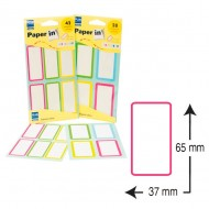 Etiquetas de colores para libros Plus Office 37x65mm (28 und.)