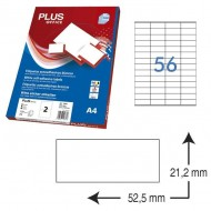 Etiquetas autoadhesivas Plus Office 52,5 x 21,2 mm. (5600 etiq./caja) ref.10691/5221
