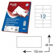 Etiquetas autoadhesivas Plus Office 105 x 48 mm. (1200 etiq./caja) ref.1663/48105
