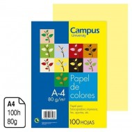 Papel Campus University amarillo pastel A4 80 g. 100 h.