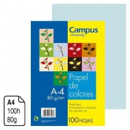 Papel Campus University azul pastel A4 80 g. 100 h.