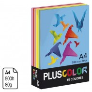 Papel Plus Color colores surtidos A4 80 g. 500 h.