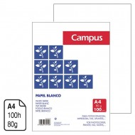 Papel Campus University blanco A4 80 g. 100 h.