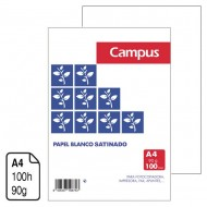 Papel satinado Campus University blanco A4 90 g. 100 h.
