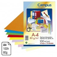 Papel Campus University colores surtidos A4 80 g. 100 h.
