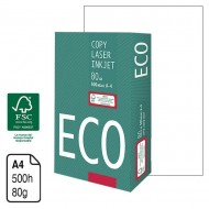 Papel Eco F.S.C. blanco A4 80 g. 500 h.