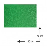 Goma Eva con purpurina Campus University 40 x 60 cm. 2 mm. verde ref. 630555
