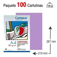 Cartulina Campus University A4 180 g. lila