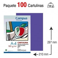 Cartulina Campus University A4 180 g. violeta