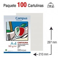 Cartulina Campus University A4 180 g. gris claro