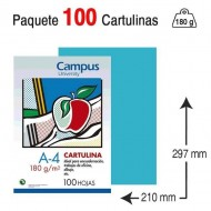 Cartulina Campus University A4 180 g. azul turquesa