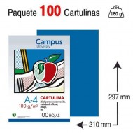 Cartulina Campus University A4 180 g. azul marino