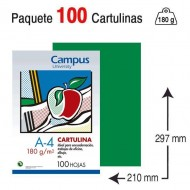 Cartulina Campus University A4 180 g. verde billar