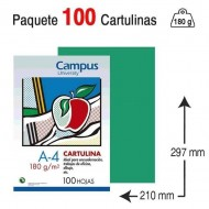 Cartulina Campus University A4 180 gr Verde pino
