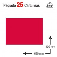 Cartulina Campus University 50 x 65 cm. 200 g. rojo