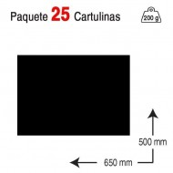 Cartulina Campus University 50 x 65 cm. 200 g. negro