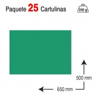 Cartulina Campus University 50 x 65 cm. 200 g. verde pino