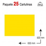 Cartulina Campus University 50 x 65 cm. 200 g. amarillo canario