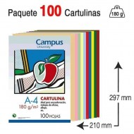 Cartulina Campus University A4 180 g. colores surtidos