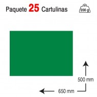 Cartulina Campus University 50 x 65 cm. 200 g. verde billar
