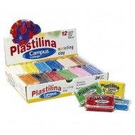 Plastilina Campus University 60 g. 24 unid. colores surtidos