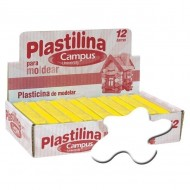 Plastilina Campus University 200 g. 12 unid. blanco